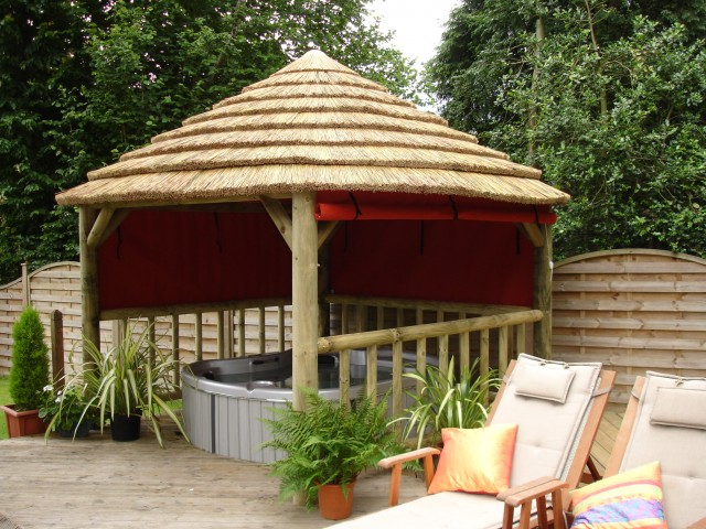 Spa gazebos hot tub gazebos for Spa gazebo kits