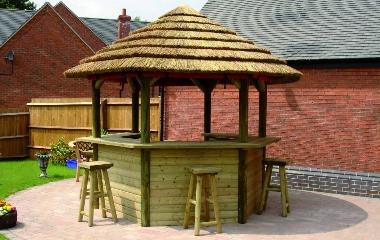 African Thatched Gazebo African Style Garden Buildings