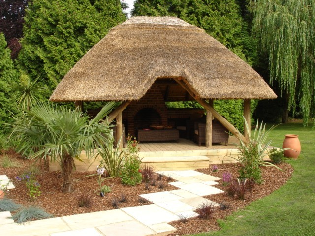 Thatched Gazebo Thatched Gazebos Hot Tub Gazebo