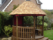African thatched gazebo african style garden buildings for Design your own gazebo