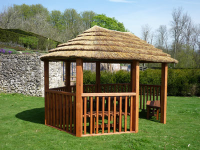 2.8m contemporary oval gazebo