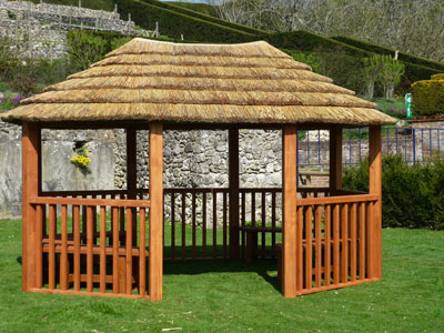 3.2m contemporary oval gazebo