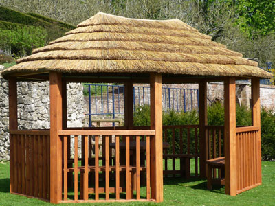 3.8m contemporary oval gazebo