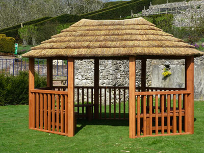 4.2m contemporary oval gazebo
