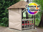 Thatch Gazebo Canvas Side Panels