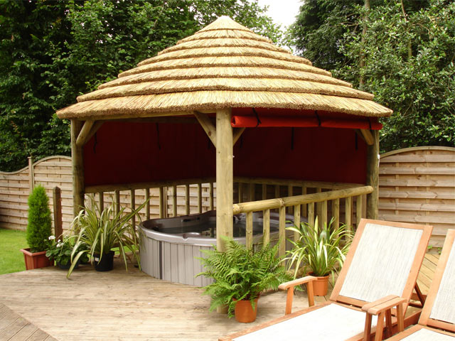 Thatched Spa Cover Gazebos